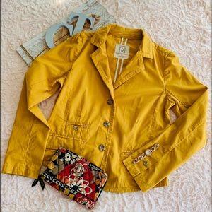Relativity Blazer Mustard Yellow Cotton